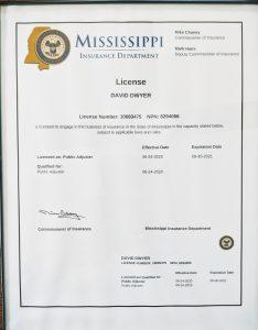 Mississippi Public Adjuster